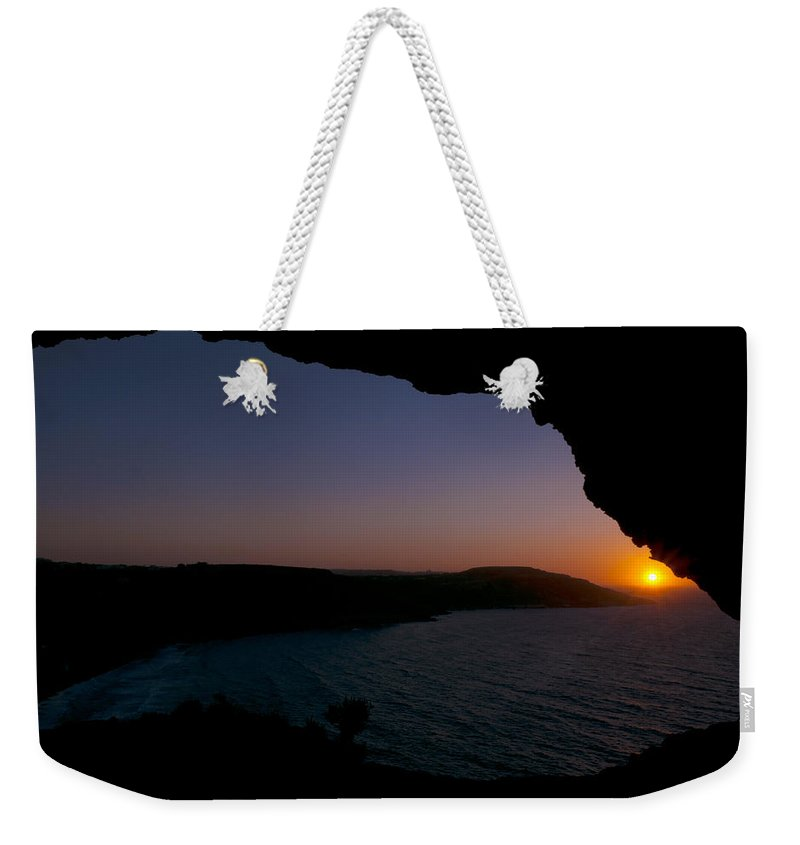 Summer Weekender Tote Bag featuring the photograph Yes It's Summer. Sunset Over Ramla Bay by Focus Fotos