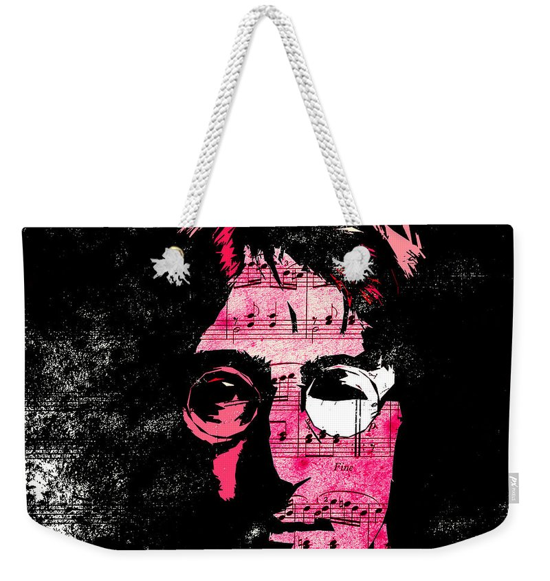 John Lennon Dreamer Not The Only One Beatle Beatles Song Songwriter Dream Weekender Tote Bag featuring the digital art You Say I Am A Dreamer by Steve K