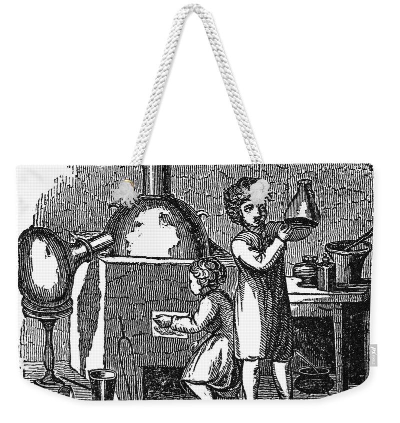 1840 Weekender Tote Bag featuring the photograph Young Chemists by Granger