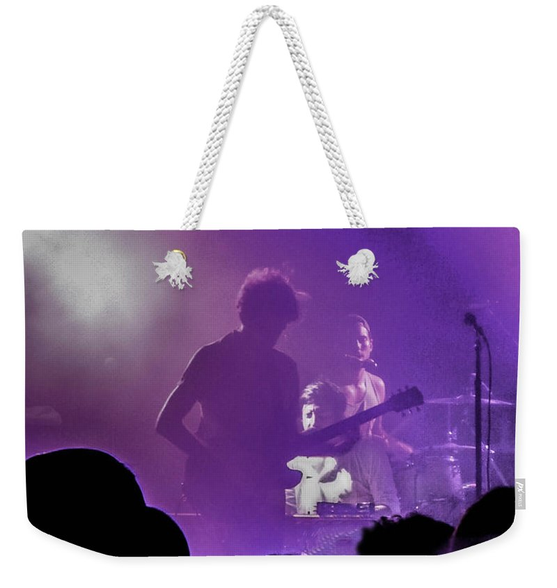 Austin Weekender Tote Bag featuring the photograph Young The Giant At Stubbs. by Josh Scanlon
