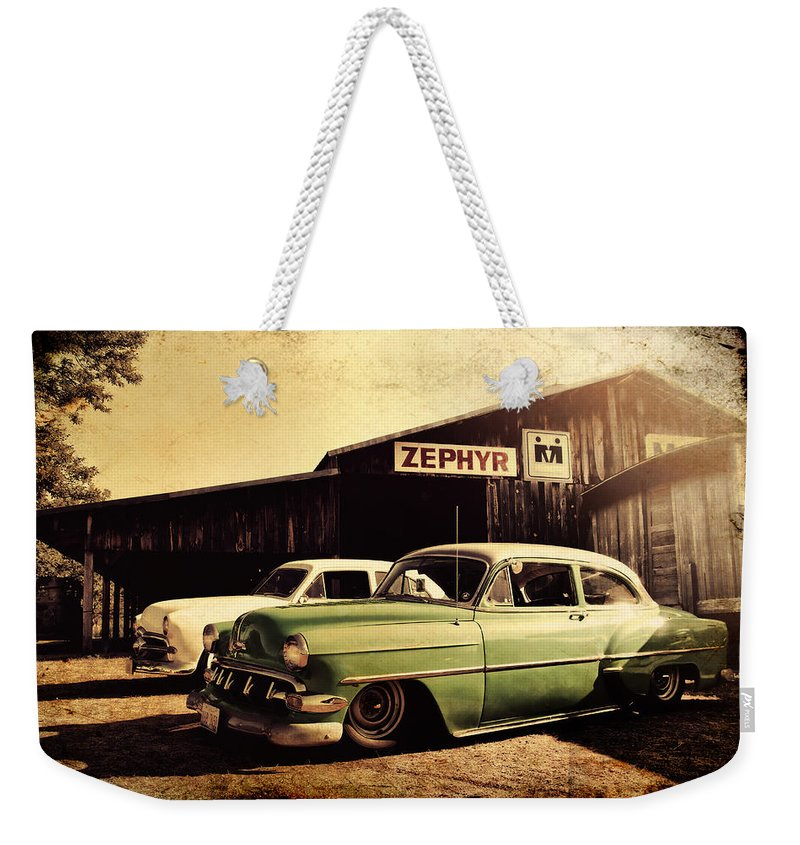 Chevy Weekender Tote Bag featuring the photograph Zephyr by Joel Witmeyer