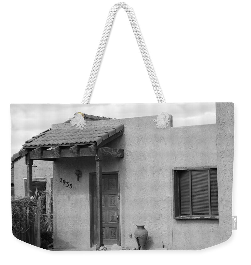 Architecture Weekender Tote Bag featuring the photograph Adobe House by Rob Hans