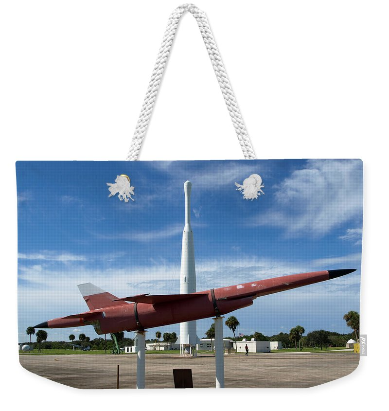 Thor; Able; Thor-able; Missle; U.s.; Airforce; Air Force; Air; Force; Cape; Canaveral; Nasa; Rocket; Weekender Tote Bag featuring the photograph Air Force Museum At Cape Canaveral by Allan Hughes