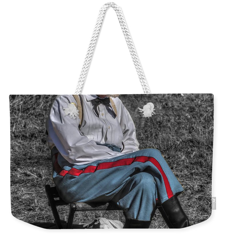 Howitzer Weekender Tote Bag featuring the photograph Battle Of Honey Springs V5 by John Straton