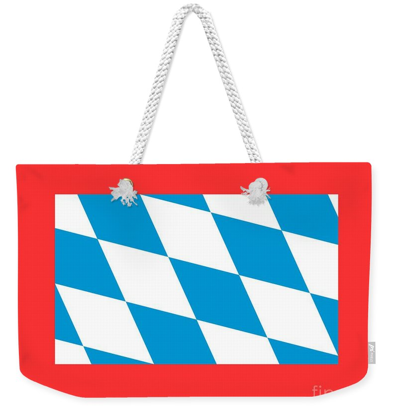 Banner Weekender Tote Bag featuring the digital art Bavaria Flag by Frederick Holiday