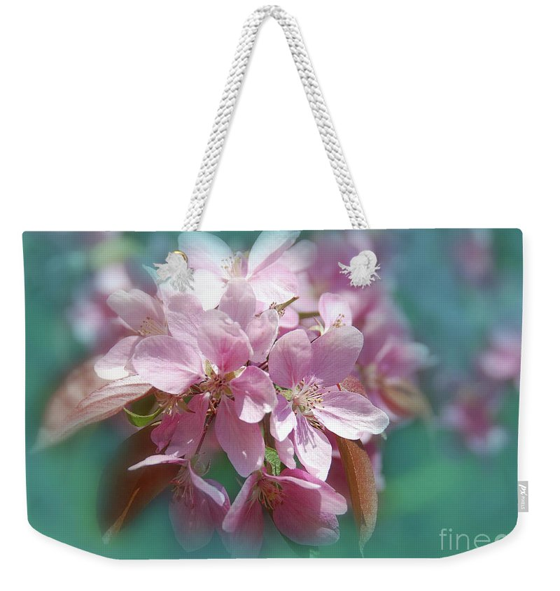 Seasonal Weekender Tote Bag featuring the photograph Blossoms by Elaine Manley