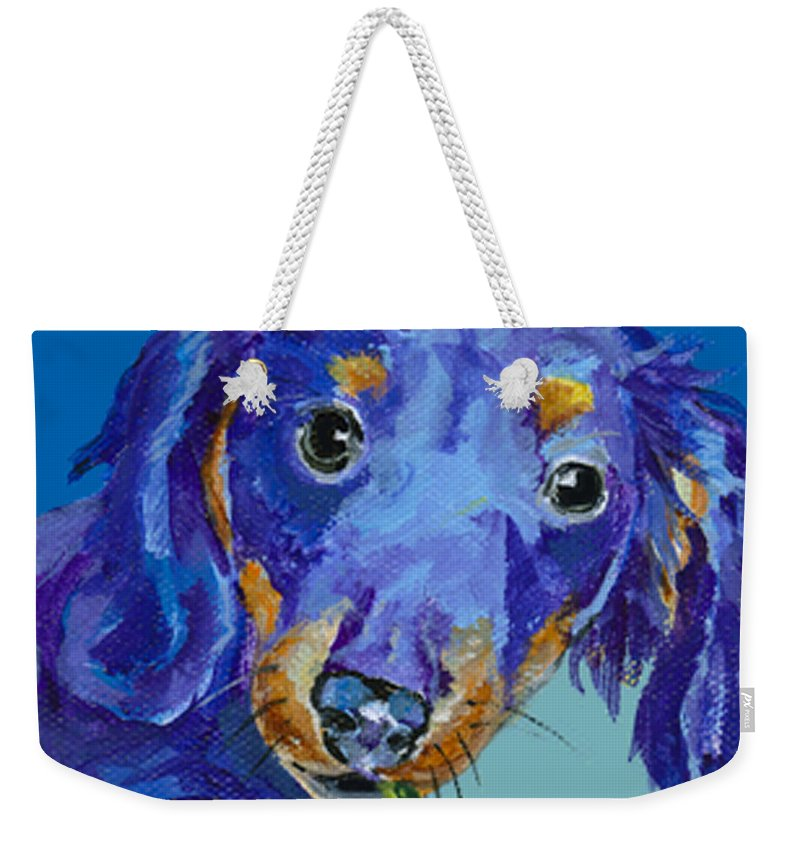 Mini Painting Weekender Tote Bag featuring the painting  Dach by Pat Saunders-White