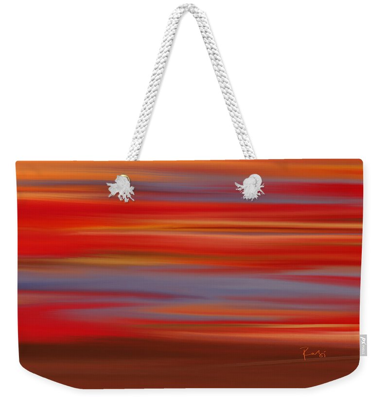 Abstract Weekender Tote Bag featuring the digital art Evening In Ottawa Valley by Rabi Khan