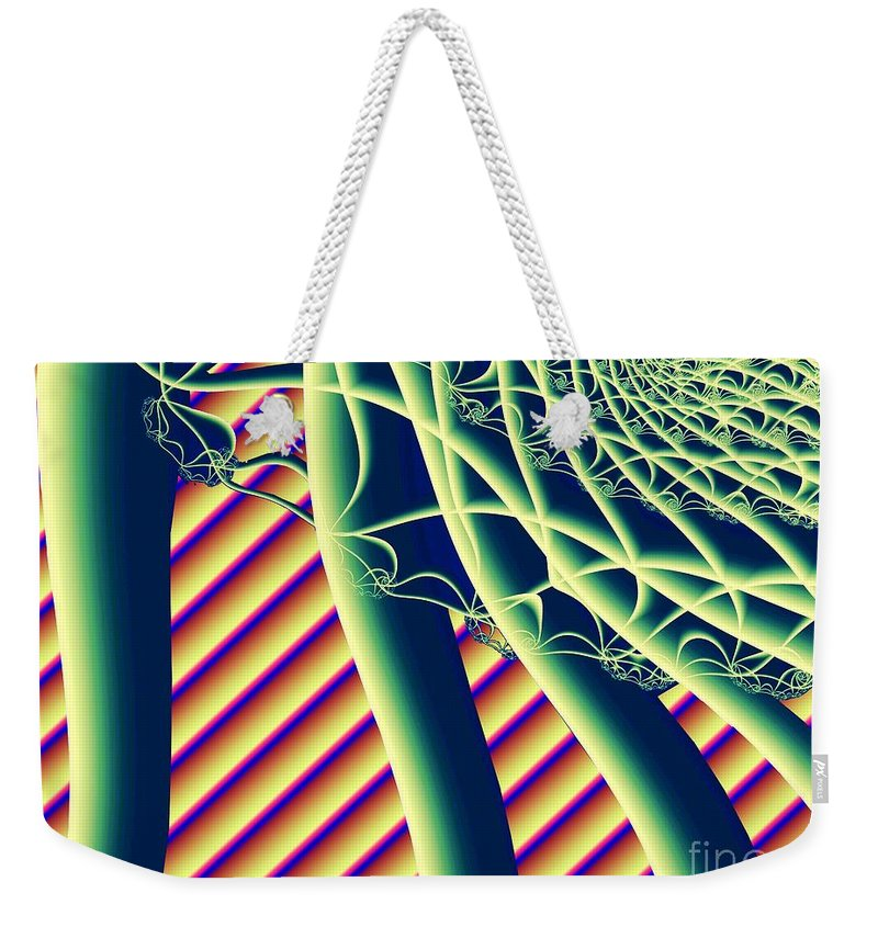 Fractal Weekender Tote Bag featuring the digital art Fabaceae by Ron Bissett