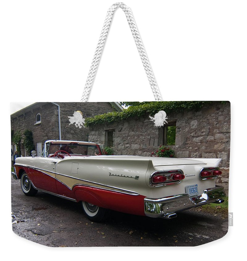 Antique Car Weekender Tote Bag featuring the photograph Ford Fairlane by Guy Whiteley