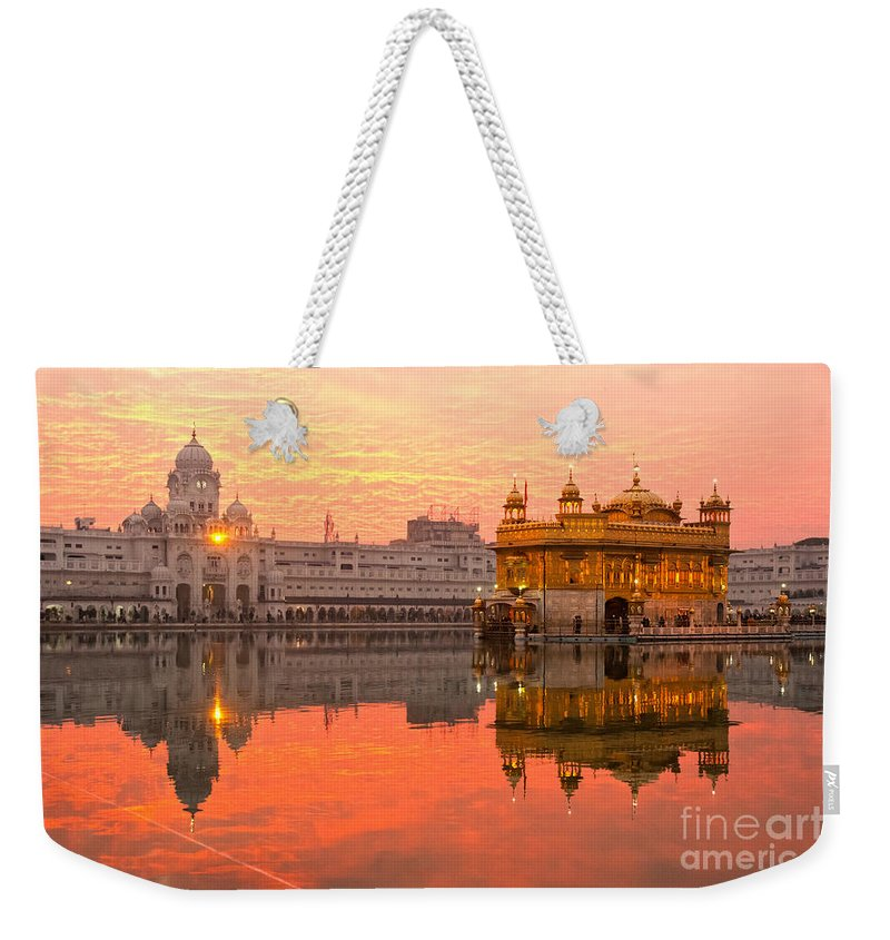 Amritsar Weekender Tote Bag featuring the photograph Golden Temple by Luciano Mortula