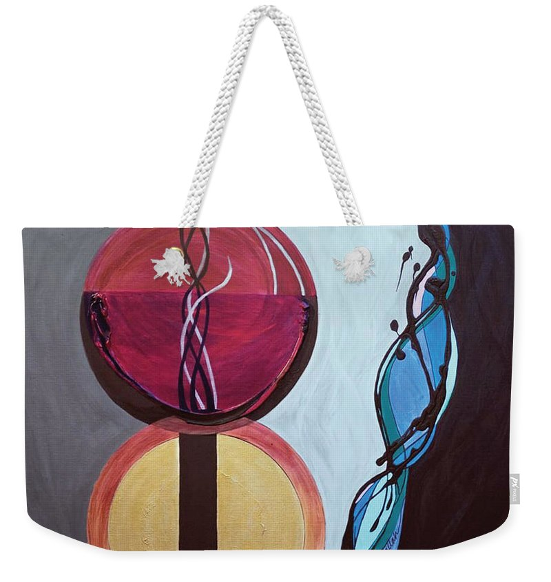 Temple Weekender Tote Bag featuring the painting Havdallah...separation by Marlene Burns