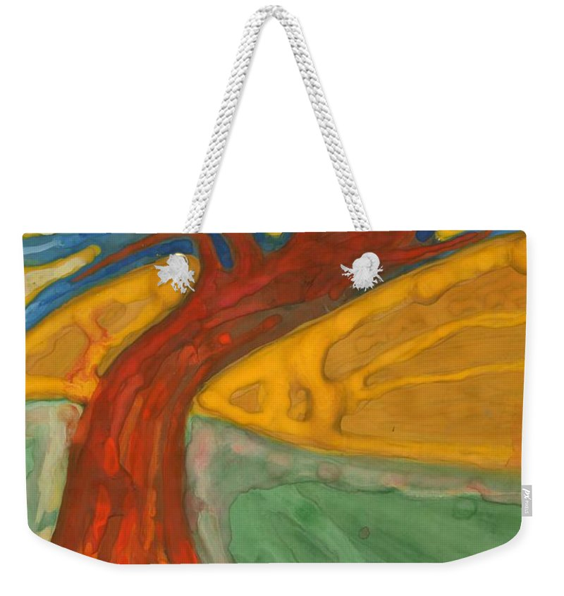 Colour Weekender Tote Bag featuring the painting I Would Like To Be Me by Wojtek Kowalski