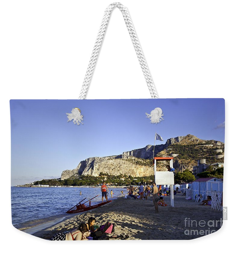 Lifeguard Weekender Tote Bag featuring the photograph Lifeguard On Duty by Madeline Ellis