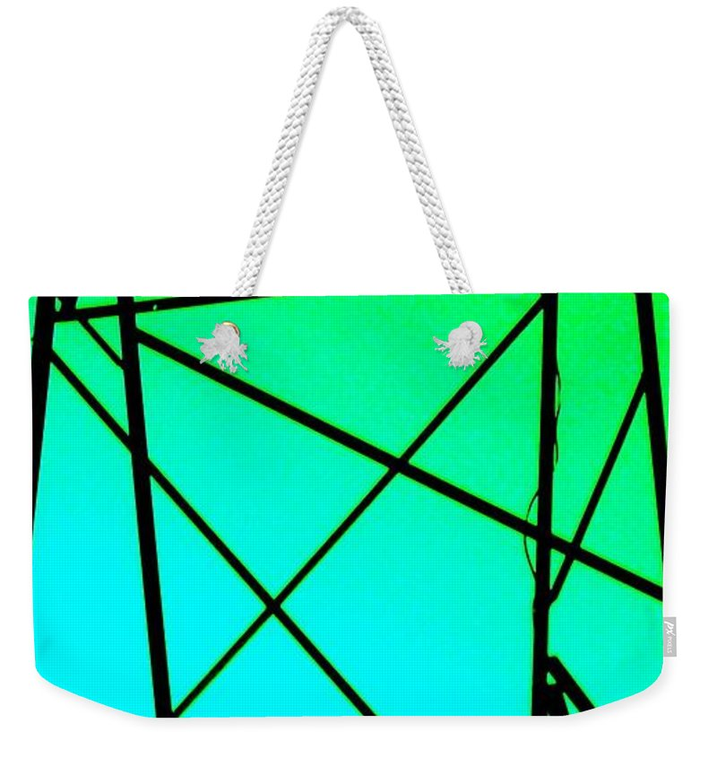 Metal Weekender Tote Bag featuring the photograph Metal Frame Abstract by Eric Schiabor