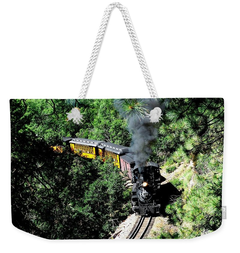 Train Weekender Tote Bag featuring the photograph Nostalgic Moments by Carol Milisen