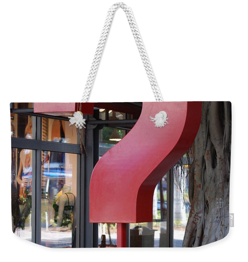 Abstract Weekender Tote Bag featuring the photograph ......... by Rob Hans