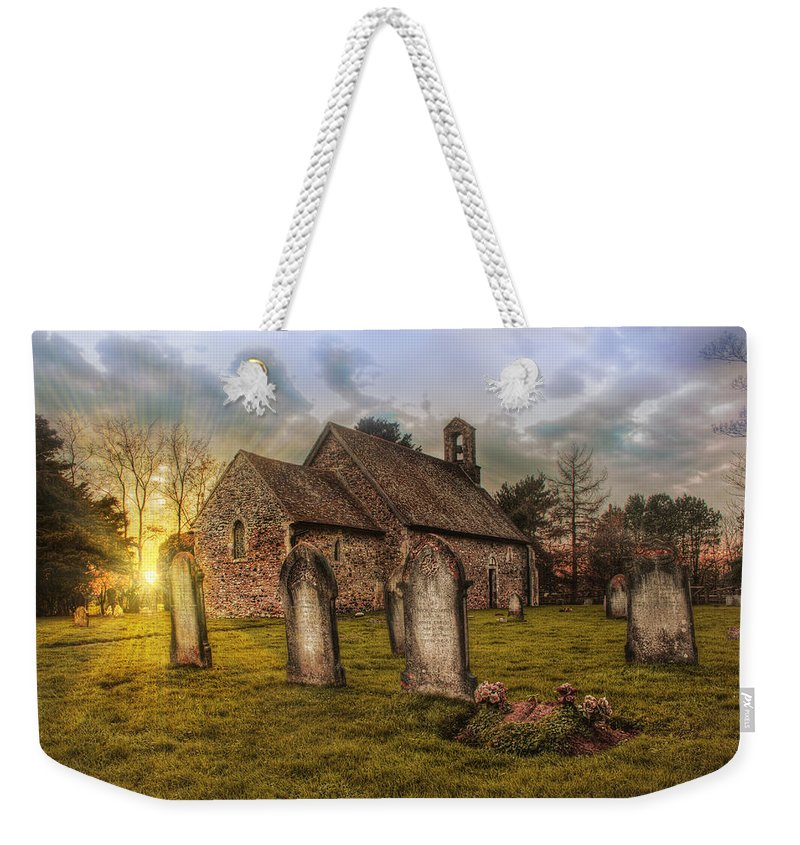 St Oswald At Sundown Weekender Tote Bag featuring the photograph St Oswald At Sundown by Dave Godden