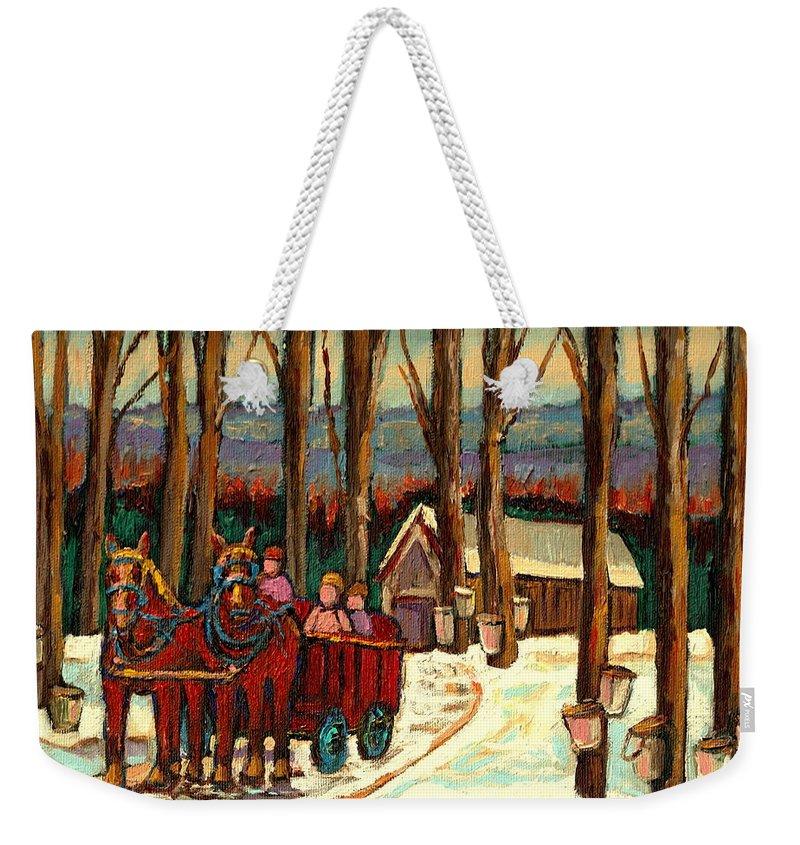 Sugar Shack By Carole Spandau Weekender Tote Bag featuring the painting Sugar Shack by Carole Spandau