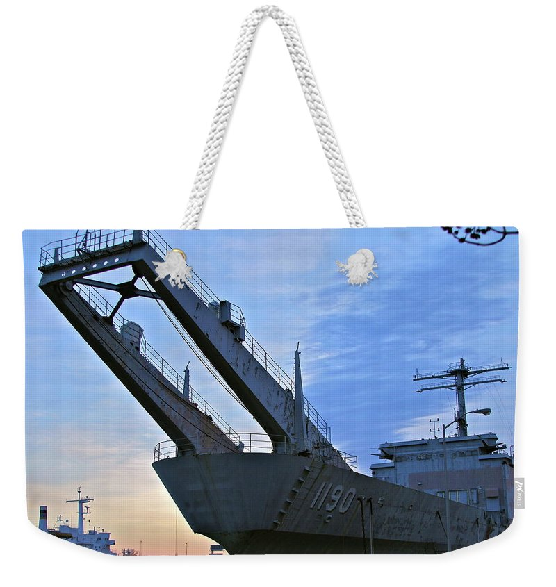 Ship Weekender Tote Bag featuring the photograph T by Rick Monyahan