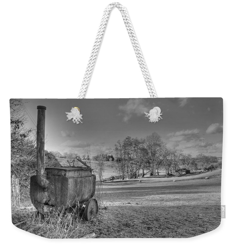 Tar Boiler Weekender Tote Bag featuring the photograph Tar Boiler by Dave Godden
