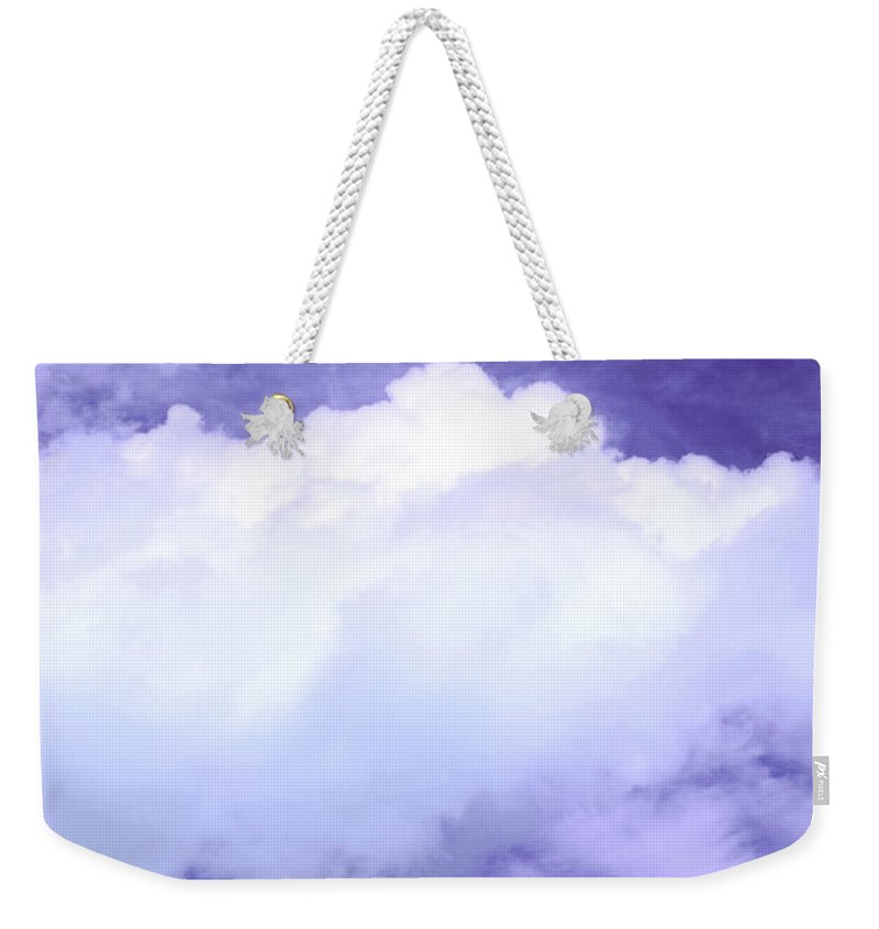 Tree Weekender Tote Bag featuring the photograph Tree Clouds Hill by Mal Bray
