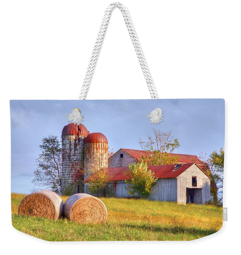 Barn Weekender Tote Bag featuring the photograph Two by Mitch Cat