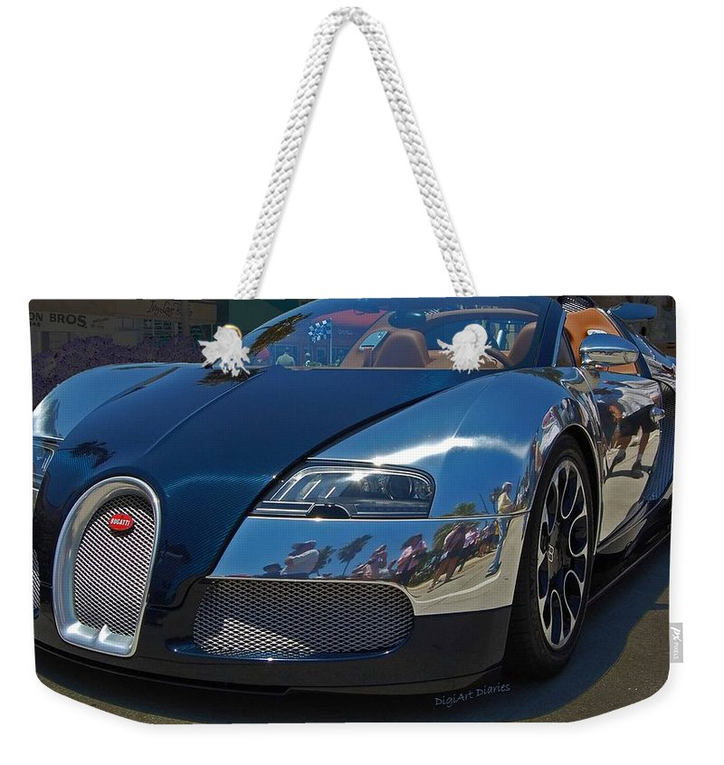 Bugatti Weekender Tote Bag featuring the photograph 0 To 60 In 2 by DigiArt Diaries by Vicky B Fuller
