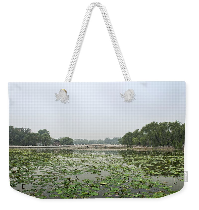 Asia Weekender Tote Bag featuring the photograph 0036-2 Bridge by David Lange