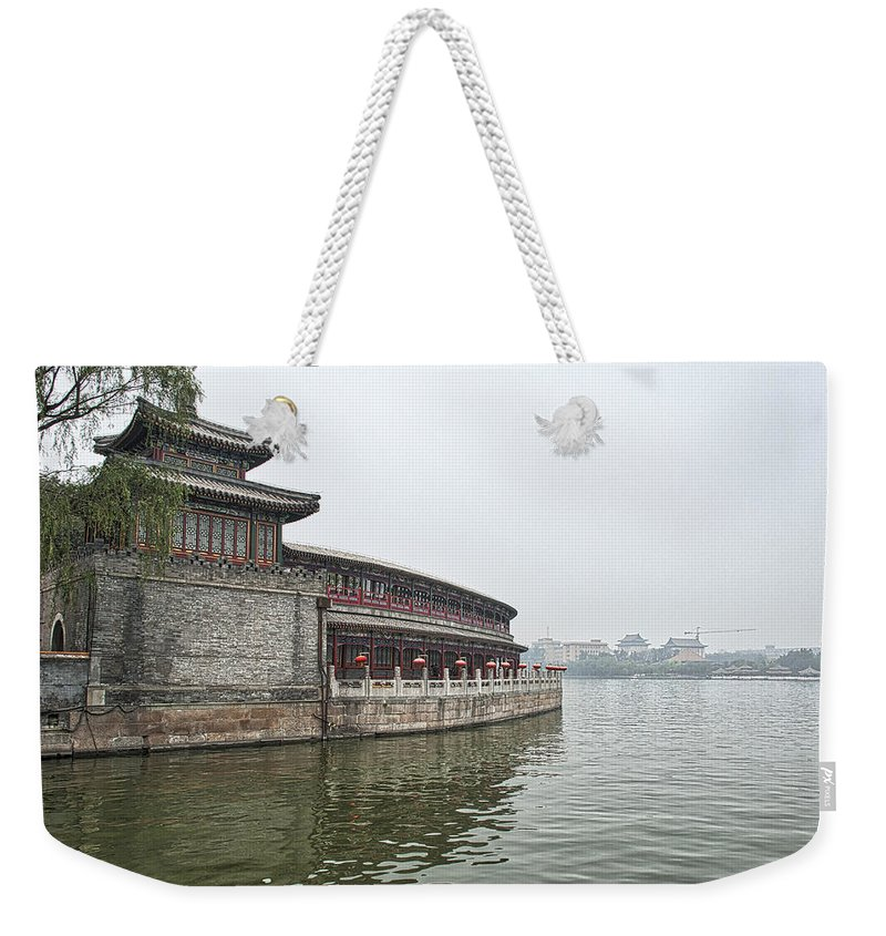 Asia Weekender Tote Bag featuring the photograph 0050-2- Beihai Park by David Lange