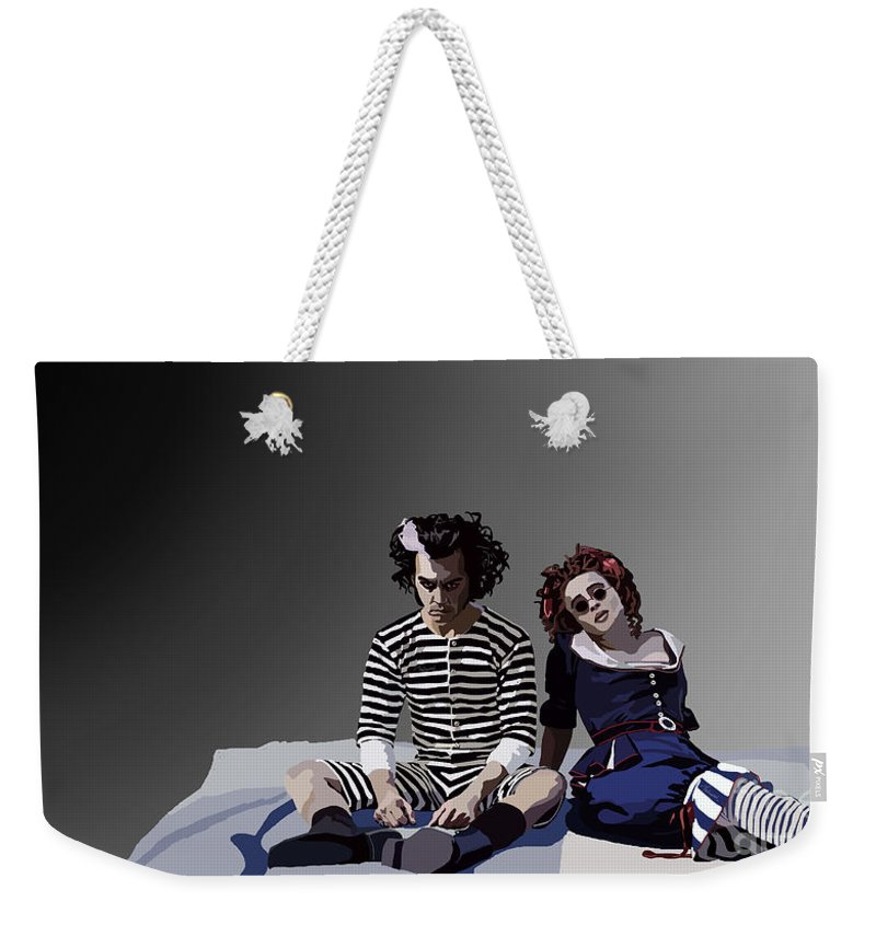 Tamify Weekender Tote Bag featuring the painting 012. The Closest Shave You by Tam Hazlewood