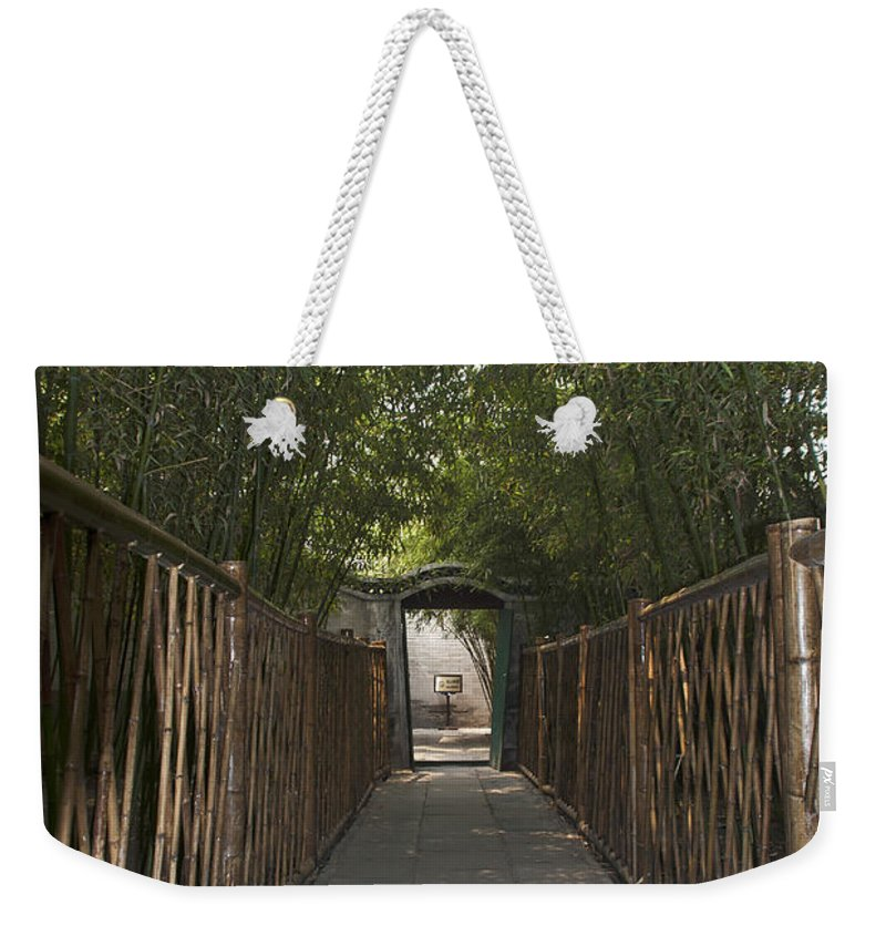 Asia Weekender Tote Bag featuring the photograph 0171- Bamboo Walkway by David Lange