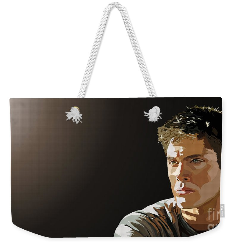 Tamify Weekender Tote Bag featuring the painting 026. The World by Tam Hazlewood