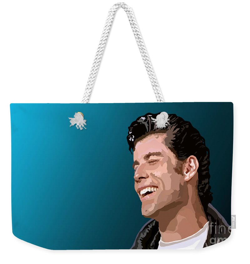 Tamify Weekender Tote Bag featuring the painting 027. Is This The End by Tam Hazlewood