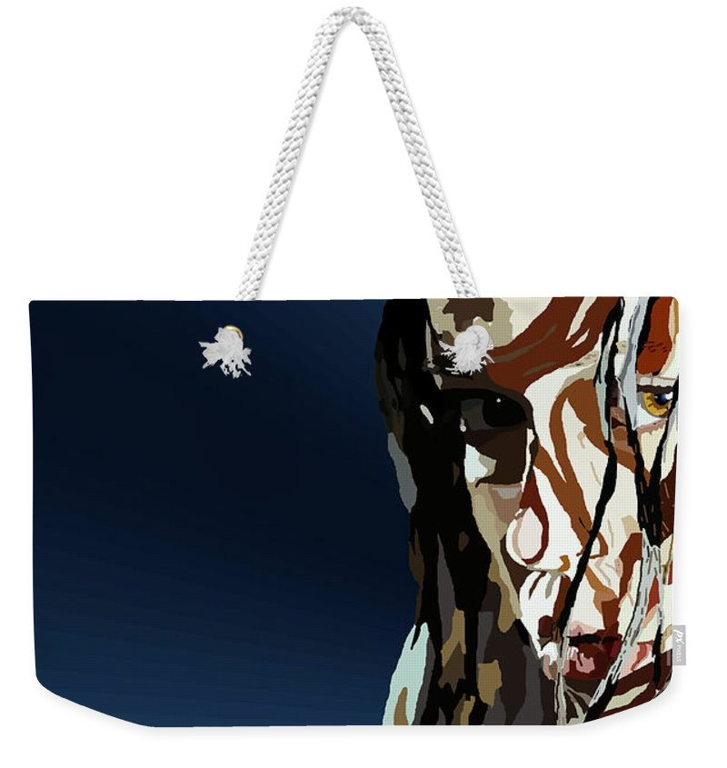 Tamify Weekender Tote Bag featuring the painting 028. Bullet In The Brain Pan Squish by Tam Hazlewood
