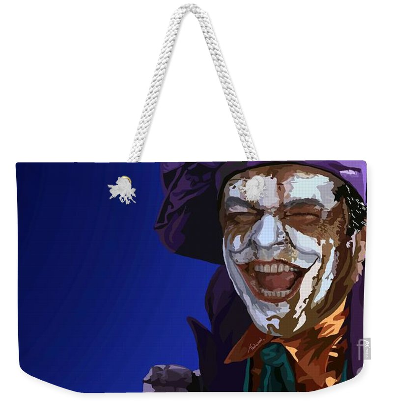 Tamify Weekender Tote Bag featuring the painting 035. Wait Till They Get A Load Of Me by Tam Hazlewood