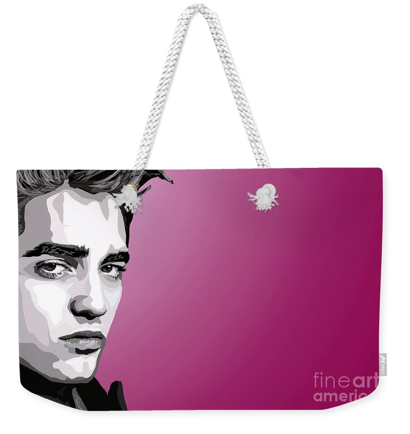 Tamify Weekender Tote Bag featuring the painting 052. Real Men Sparkle by Tam Hazlewood