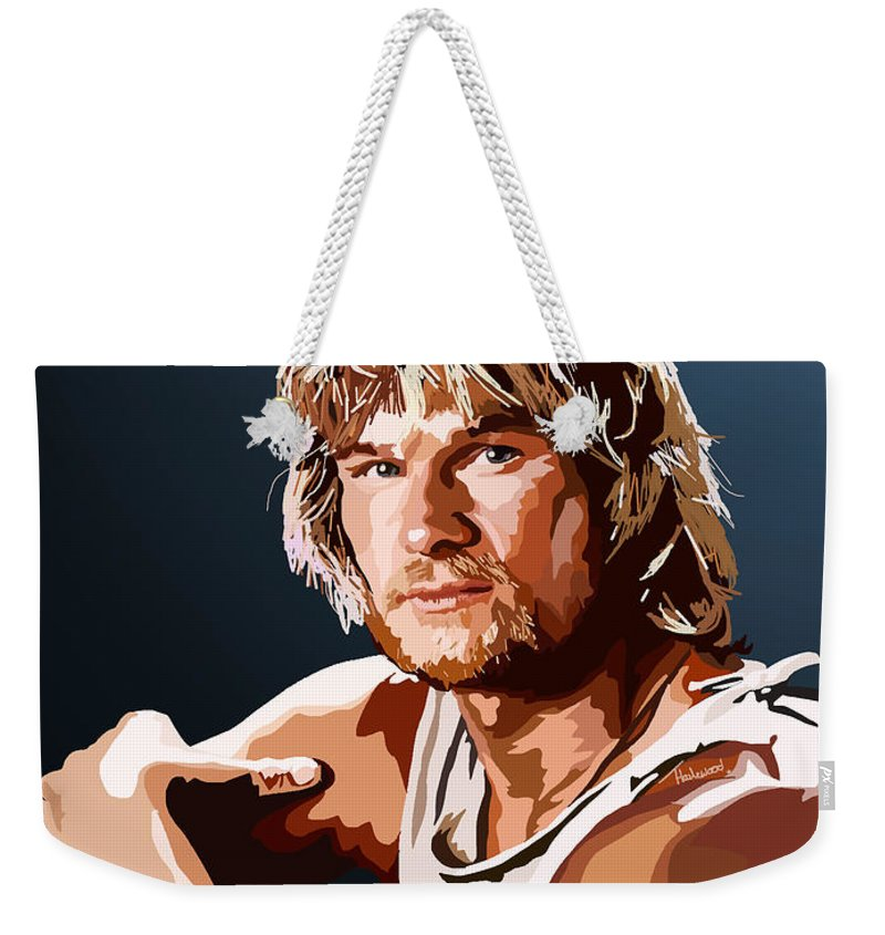 Tamify Weekender Tote Bag featuring the painting 057. You Take It With You by Tam Hazlewood