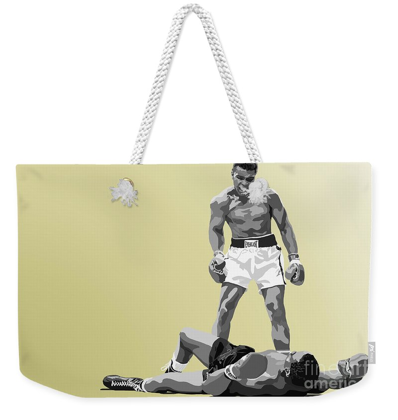 Tamify Weekender Tote Bag featuring the painting 059. Float Like A Butterfly by Tam Hazlewood