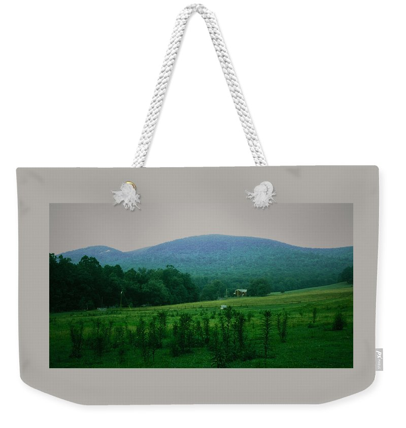 Farm Weekender Tote Bag featuring the photograph 061207-17 by Mike Davis