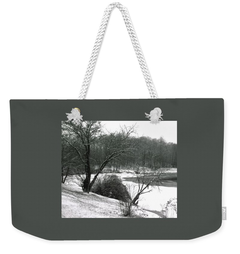 Scenic Weekender Tote Bag featuring the photograph 072606-24a by Mike Davis