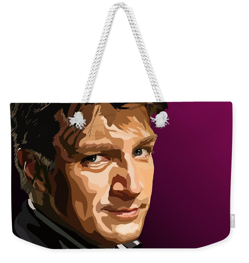 Tamify Weekender Tote Bag featuring the painting 083.you'd Best Make Peace With Your Dear And Fluffy Lord by Tam Hazlewood