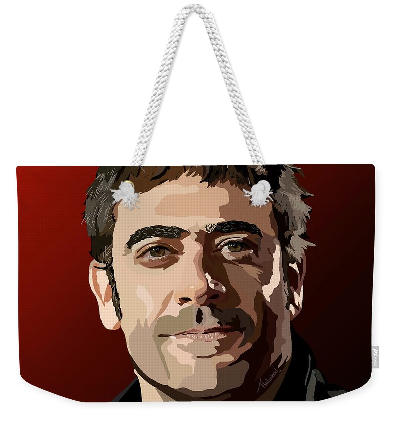 Tamify Weekender Tote Bag featuring the digital art 087. Shoot First Ask Questions Later by Tam Hazlewood