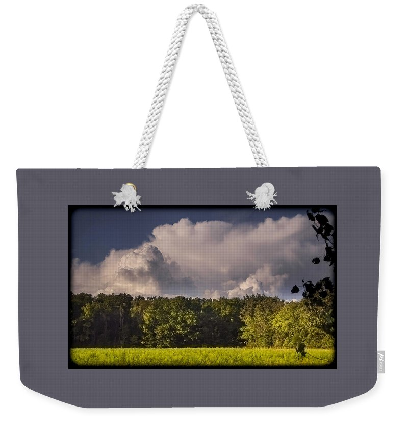 Sky Weekender Tote Bag featuring the photograph 090717-56 by Mike Davis