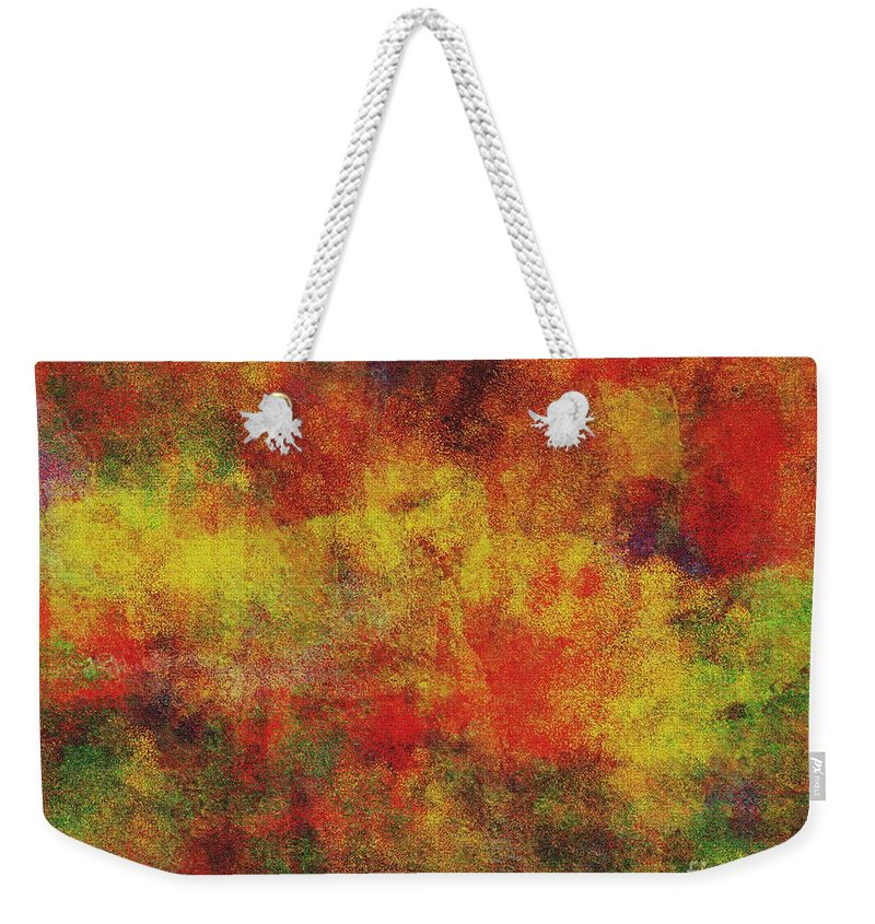 Abstract Weekender Tote Bag featuring the digital art 0970 Abstract Thought by Chowdary V Arikatla