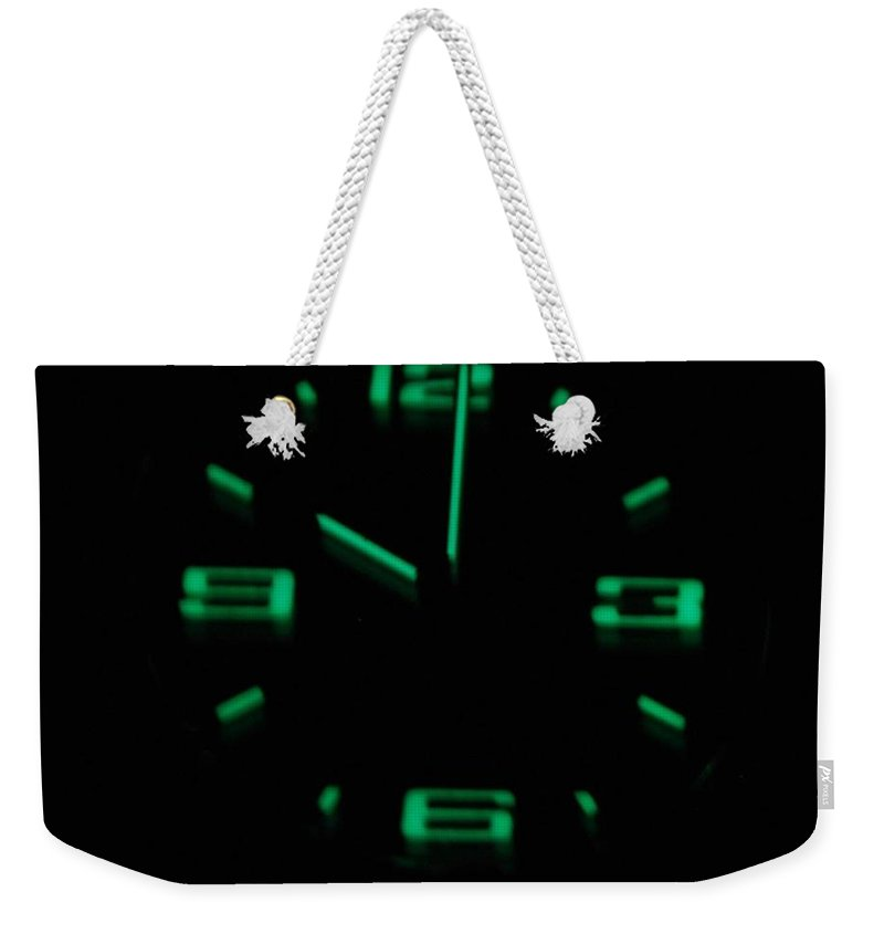 Neon Weekender Tote Bag featuring the photograph 10 01 by Rob Hans