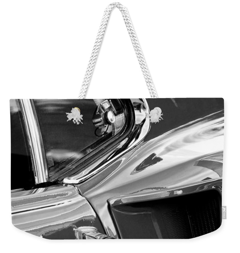 1969 Ford Mustang Mach 1 Weekender Tote Bag featuring the photograph 1969 Ford Mustang Mach 1 Side Scoop by Jill Reger