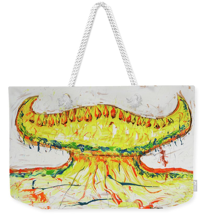Weekender Tote Bag featuring the painting 28 by Ferboligali