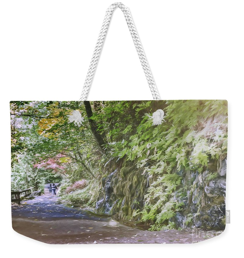 Catholic Weekender Tote Bag featuring the photograph Road To Emmaus by Jean OKeeffe Macro Abundance Art