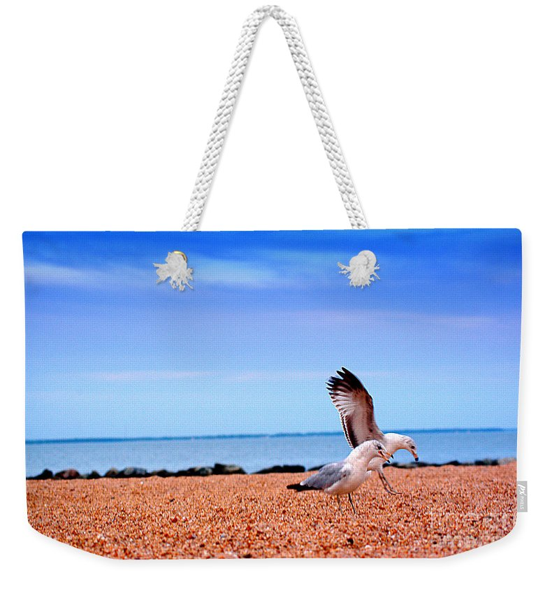 Clay Weekender Tote Bag featuring the photograph A Day At The Beach by Clayton Bruster